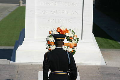 Arlington National Cemetery - Tomb Of The Unknown Soldier - 12128 Print by DC Photographer