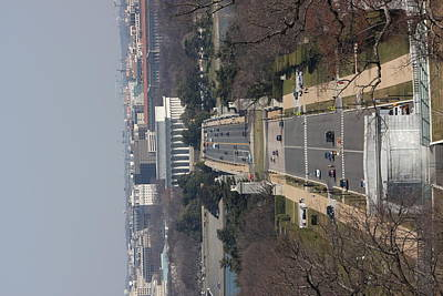 Headstones Photograph - Arlington National Cemetery - View From Arlington House - 12121 by DC Photographer