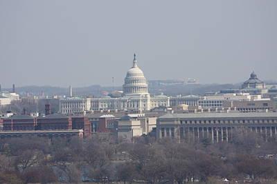 Cemetary Photograph - Arlington National Cemetery - View From Arlington House - 12124 by DC Photographer