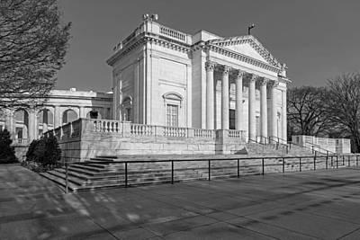 Arlington National Memorial Amphitheater Bw Print by Susan Candelario