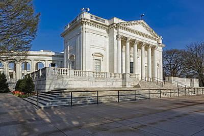 Washington Monument Photograph - Arlington National Memorial Amphitheater by Susan Candelario