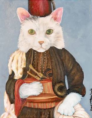 Turkish Van Cat Painting - Arlo by Gail McFarland