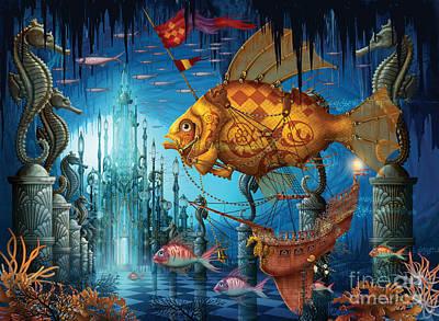Mysterious Digital Art - Armada by Ciro Marchetti