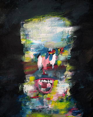 Human Head Painting - Armando Kutozov by Fabrizio Cassetta