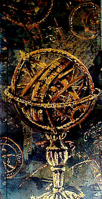 Armillary Sphere Print by Ti Campbell-Allen