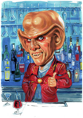 Painting - Armin Shimerman As Quark by Art