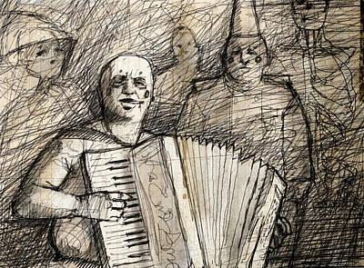 Circus Drawing - Armondo by H James Hoff