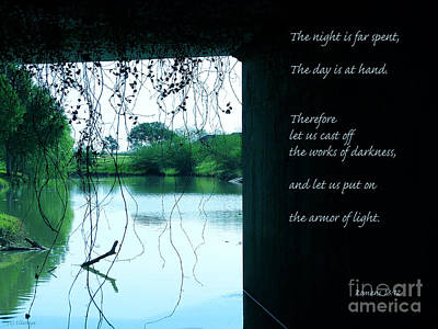 Armor Of Light Scripture Photography Print by Ella Kaye Dickey