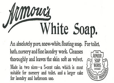 1890s Digital Art - Armour's White Soap by Cathy Anderson