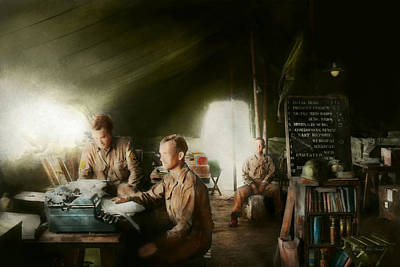 Army - Administration Print by Mike Savad