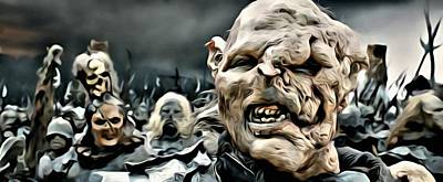Celebrities Painting - Army Of Orcs by Florian Rodarte
