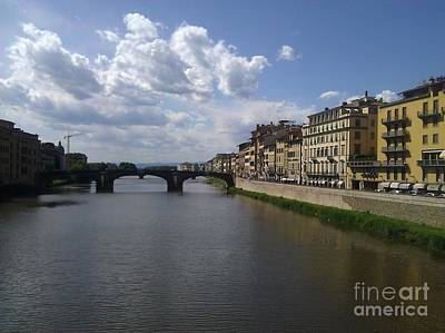 Photograph - Arno River by Ted Williams