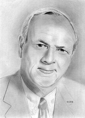 Arnold Palmer Drawing - Arnold Palmer by Pat Moore