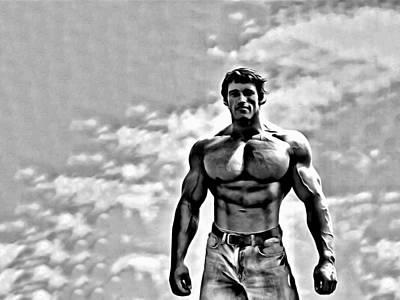 Arnold Painting - Arnold Schwarzenegger by Florian Rodarte