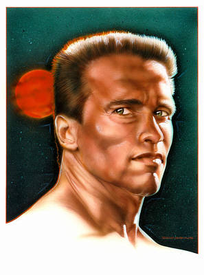 Arnold Painting - Arnold by Tim  Scoggins