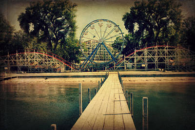 Coaster Photograph - Arnolds Park by Julie Hamilton