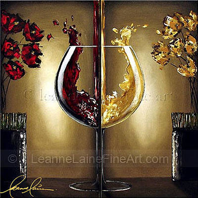 Aroma Therapy Wine Art Painting Print by Leanne Laine