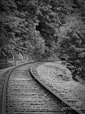 Neurotic Images Photograph - Around The Bend Bw by Chalet Roome-Rigdon