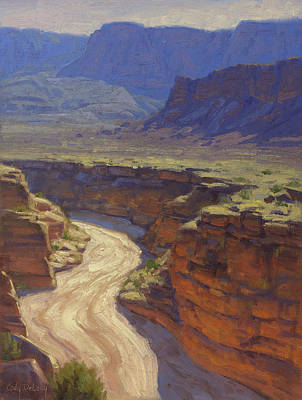Canyon Painting - Around The Bend by Cody DeLong