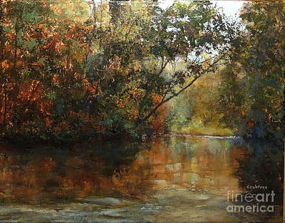 Babbling Brook Painting - Around The Bend by Elizabeth Crabtree
