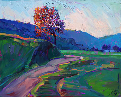 Luis Painting - Around The Bend by Erin Hanson