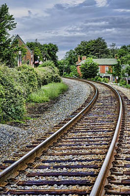 Trains Photograph - Around The Bend by Heather Applegate