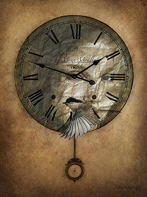 Around The Clock-time Is Flying Print by Barbara Orenya