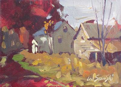 Farm And Barns Painting - Around The Corner by Len Stomski