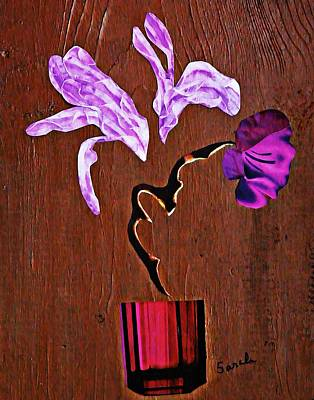 For Business Mixed Media - Arrangement In Purple by Sarah Loft