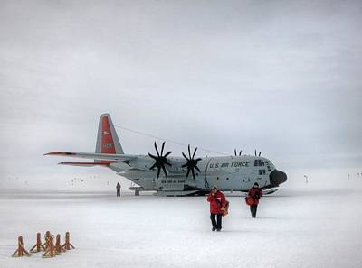 Arrival At South Pole Research Station Print by Nsf/steffen Richter/harvard University