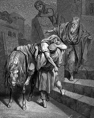 Immaculate Painting - Arrival Of The Good Samaritan At The Inn by Celestial Images