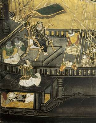 Arrival Of The Portuguese To Japan Print by Everett