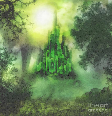 Fantasy World Painting - Arrival To Oz by Mo T