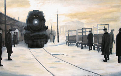 Arriving At Union Original by Dave Rheaume