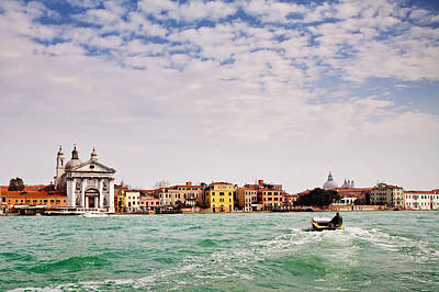 Arriving In Venice By Boat Print by Susan  Schmitz