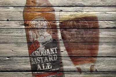 Handcrafted Photograph - Arrogant Bastard Ale by Joe Hamilton