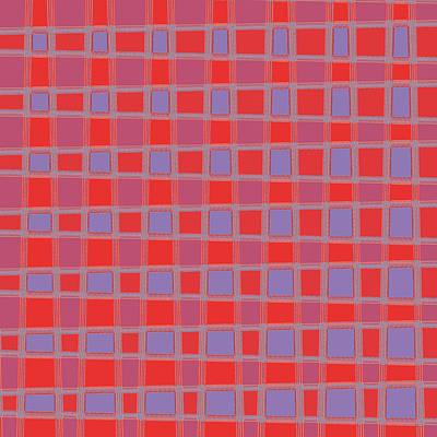 Art 1906 Elegant Graphic Pattern Squares Colorful Digitalart Graphicart Surface Texture Design Multi Print by Navin Joshi