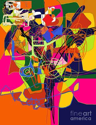 Art And Writing 2 Print by David Baruch Wolk