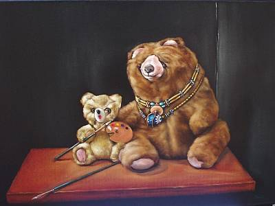 Choker Painting - Art Bears by Mahto Hogue