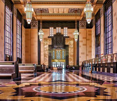 Brown Toned Art Photograph - Art Deco Great Hall #1 by Nikolyn McDonald