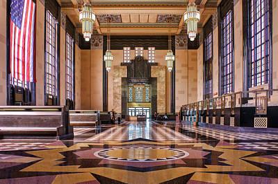 Brown Toned Art Photograph - Art Deco Great Hall #2 by Nikolyn McDonald