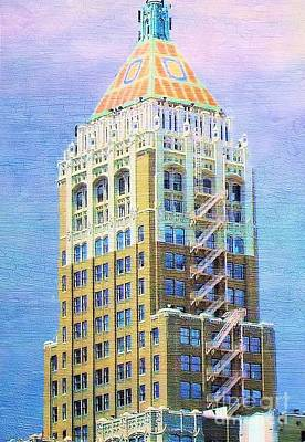 Art Deco Lives At Philtower Print by Janette Boyd