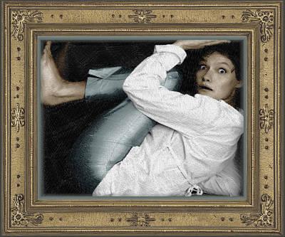Blouse Mixed Media - Art For The Sake Of Art Woman Framed 2 by Tony Rubino