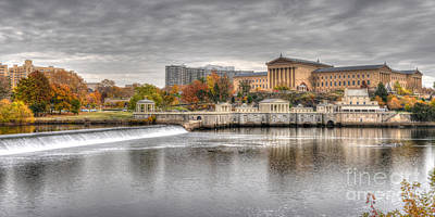 Art Museum Across The Schuylkill Print by Mark Ayzenberg