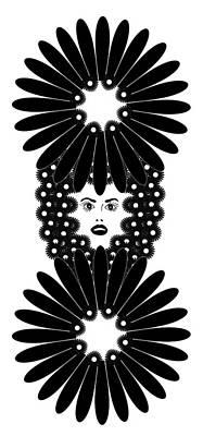 Graphic Drawing - Art Nouveau Design 453 by Frank Tschakert