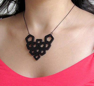 Art Nouveau Geometric Necklace Original by Rony Bank