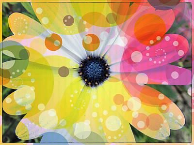 Art Of Flowers 1 Print by Dhouib Skander