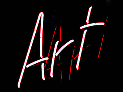 Art Sign Print by Ron Roberts