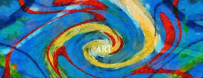 Visual Creations Painting - Art Swirl by Dan Sproul