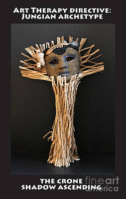 Sculpture - Art Therapy Directive Archetype Mask by Anne Cameron Cutri
